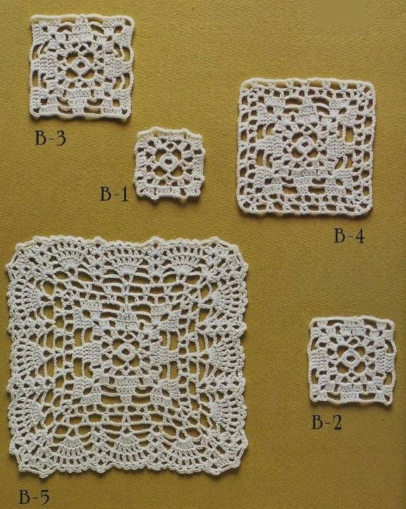 Hobby lavori femminili ricamo uncinetto maglia mattonella uncinetto schema - Piastrelle all uncinetto schemi ...