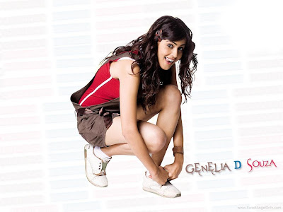 Bollywood Babe Genelia D'souza Wallpaper