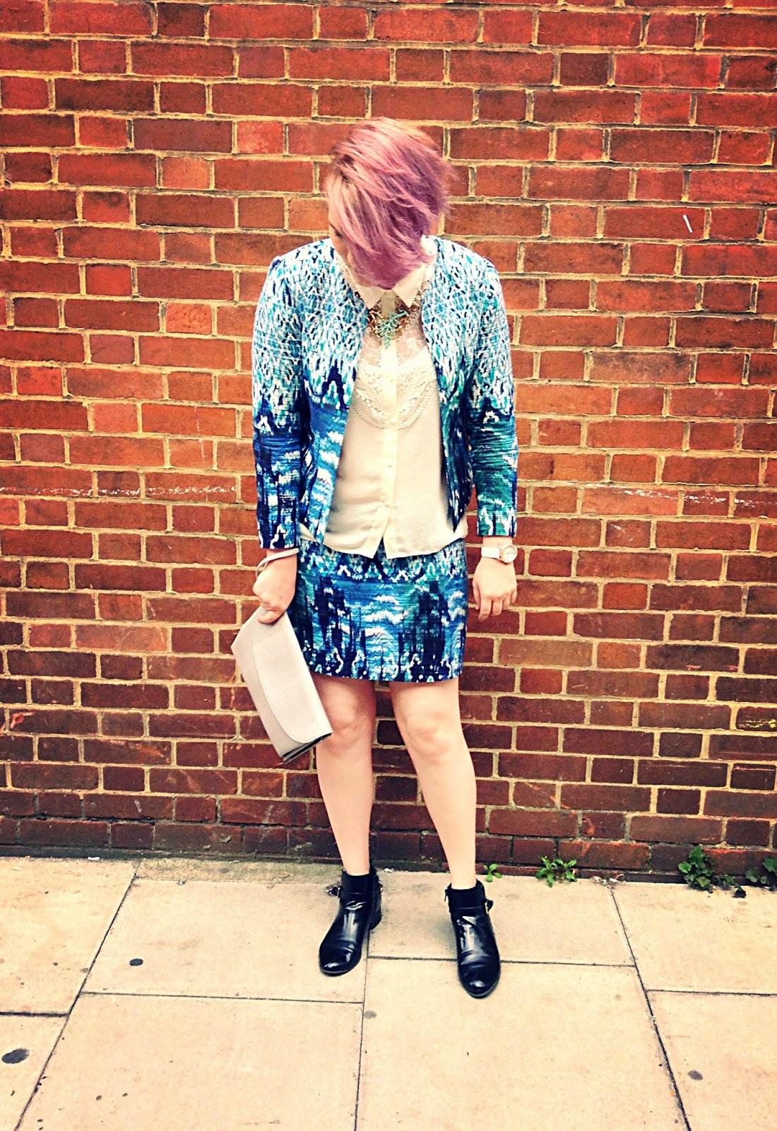 LFW Street Style Outfit Print Blazer