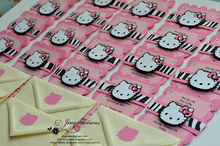hello kitty birthday party invitations in cricut