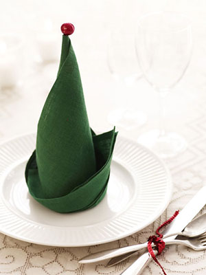 Elf Hat Napkin | Good Housekeeping