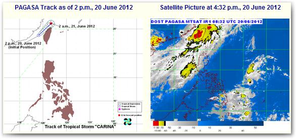Bagyong Carina June 2012 Update