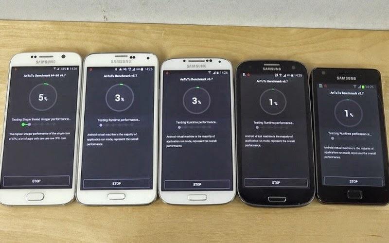 Perbandingan Skor AnTuTu Galaxy S2 hingga S6