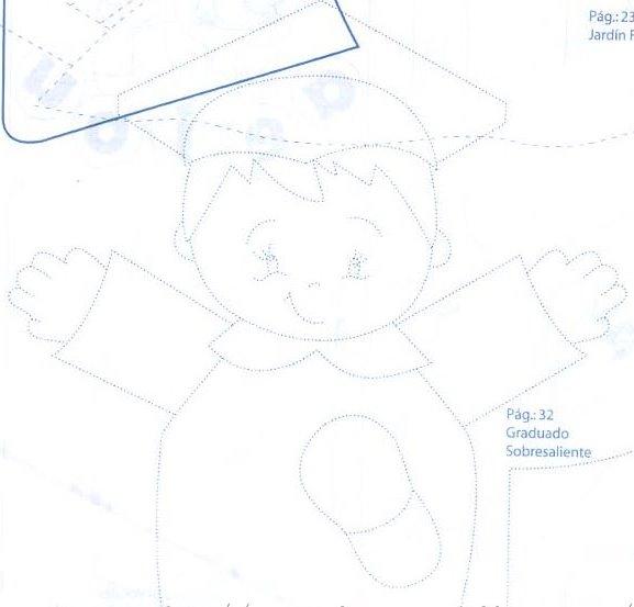 El rincon de la infancia: ♥ Graduados Dulcero niño con molde ♥