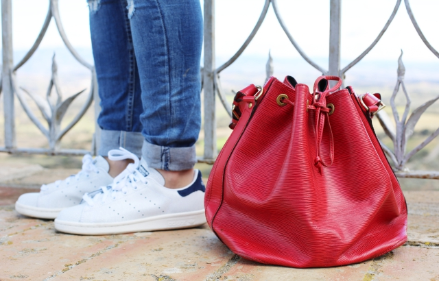 Stan Smith  y bolso Louis Vuitton