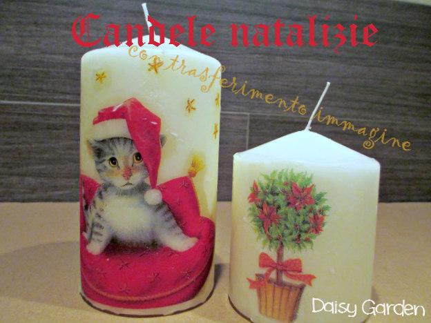 Decorare Candele Bianche : Daisy garden candele natalizie decorate