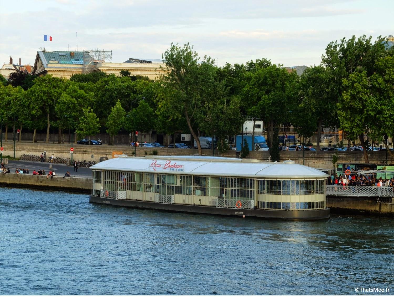 Rosa Bonheur sur Berge guinguette restaurant terrasse sur seine Les Berges Port Pont Alexandre III Paris (c) Thatsmee.fr
