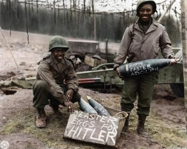 World War 2 soldiers on Easter.