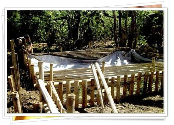 Kolam ukuran 4 x 5 x 1 meter membutuhkan luas terpal 6 x 7 meter