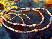 Multicolored Paperbead Necklace