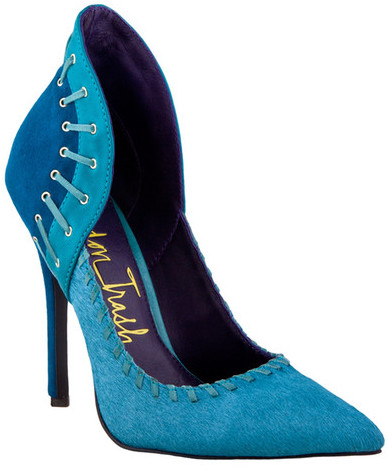Zigi blue high heeled pumps
