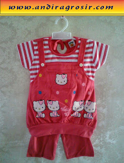 Setelan Bear Hello Kitty