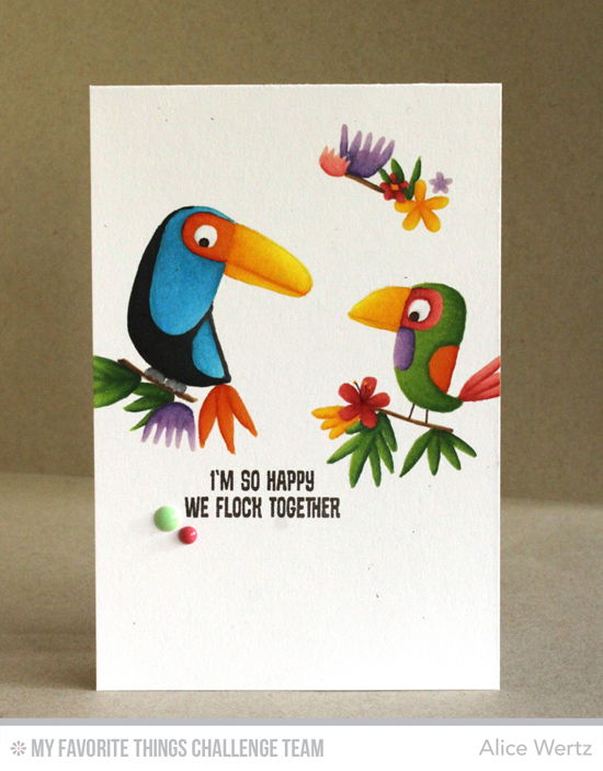 Happy Birds Card by Alice Wertz featuring the Birds of Paradise stamp set #mftstamps