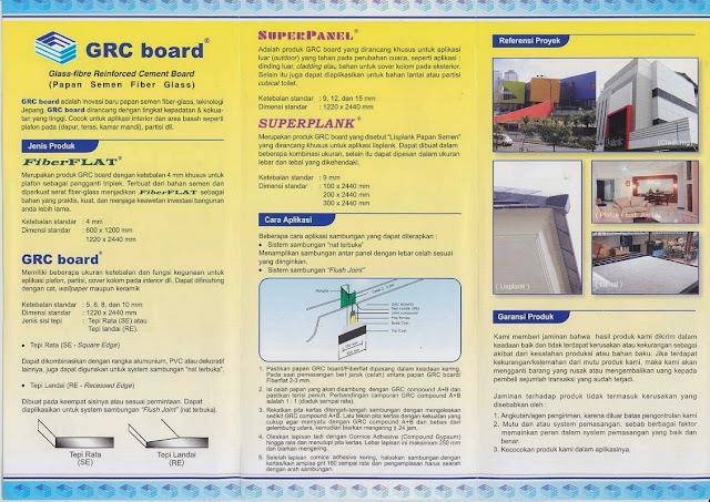 GRC Board Ukuran dan Kegunaan