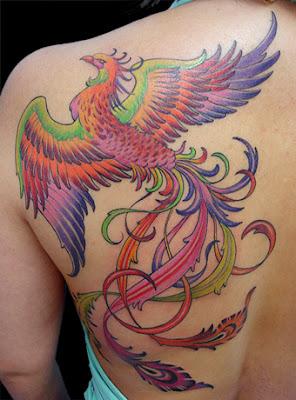 Tatuagens de Fênix nas Costas