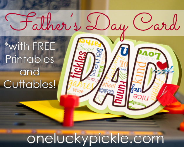 photo about Lucky to Have a Dad Like You Printable referred to as 1 Fortuitous Pickle: Fathers Working day is Approximately Right here All over again!