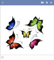 Butterflies emoticon
