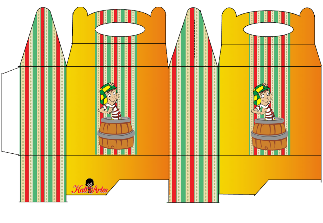 El Chavo: Free Printable Lunch Box.
