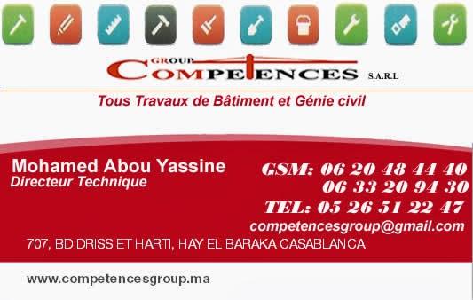 COMPETENCES GROUP Sarl Implante Casablanca Est Spcialise Dans Le Secteur Du Btiment Et Travaux Publics Vous Propose La Ralisation Des Projets