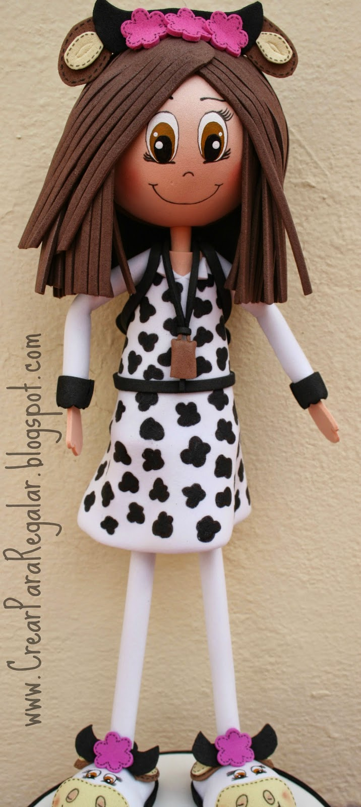 fofucha vestida de vaca