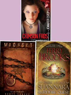 Crimson Frost Jennifer Estep Moonset Scott Tracey Bloodfire Quest Terry Brooks