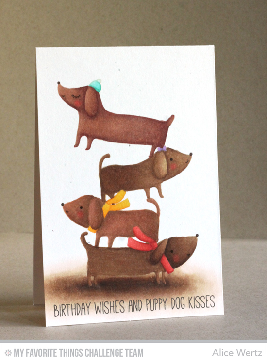 Stack o' Puppies Card by Alice Wertz featuring the Top Dog stamp set #mftstamps