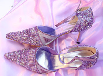 purple evening shoes