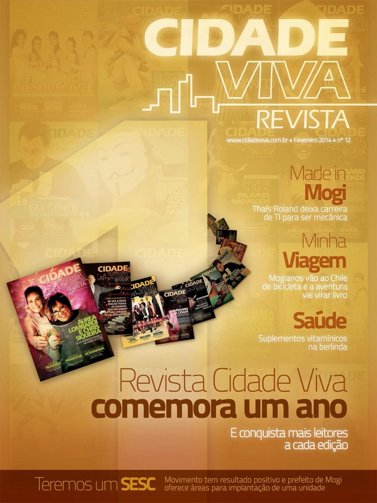 Revista Cidade Viva - edição de Fevereiro de 2014