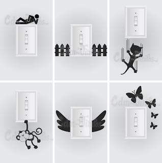 Vinilos decorativos para pared llave tecla de luz cdm vinilos decorativos para casas y - Vinilos decorativos para pared ...