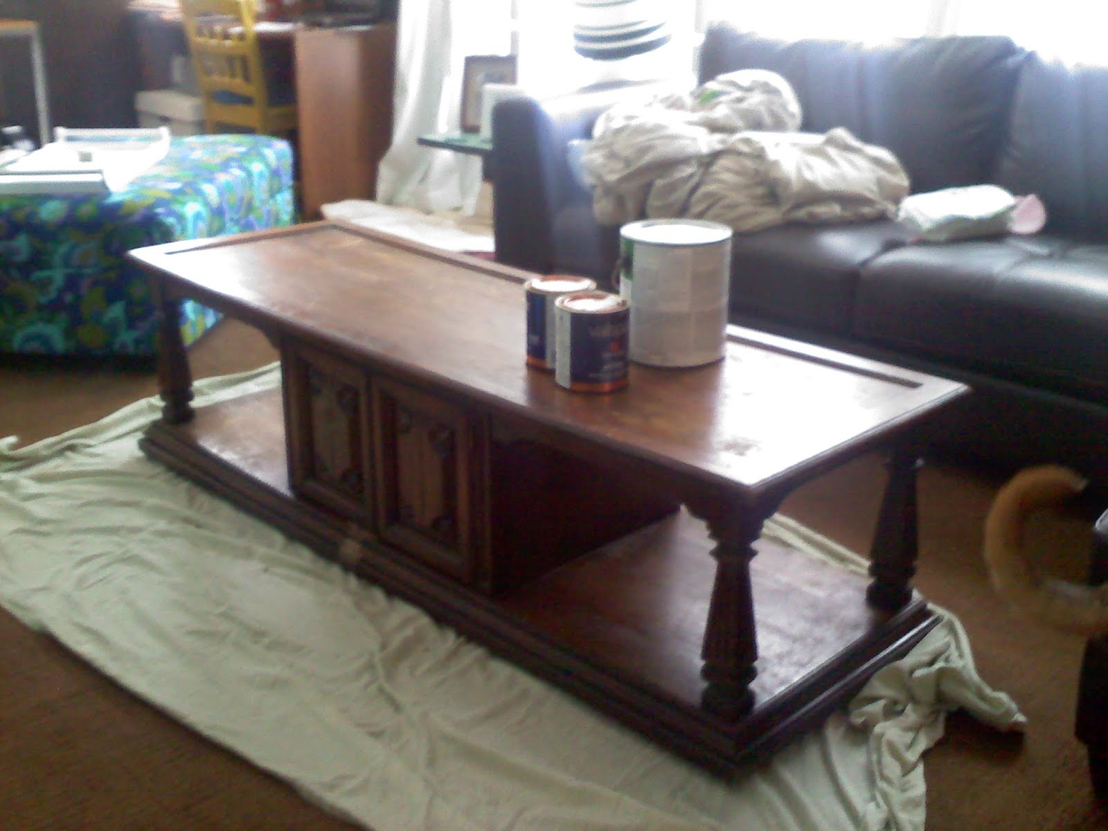 Sugartotdesigns Chevron Coffee Table Makeover