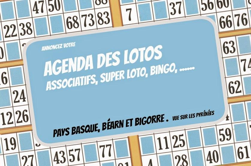 les lotos de Décembre 2014 des Pyrénées Atlantique et des Hautes Pyrénées