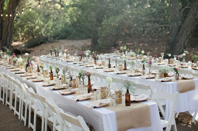 eco long table wedding