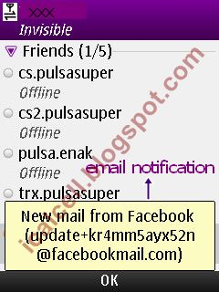Email Notification - Yahoo Messenger 1.5.0 For Mobile (nokia)