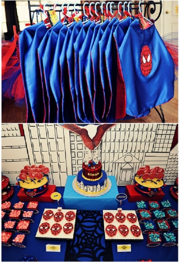 Boys Party Ideas A Spiderman Inspired Super Hero Birthday