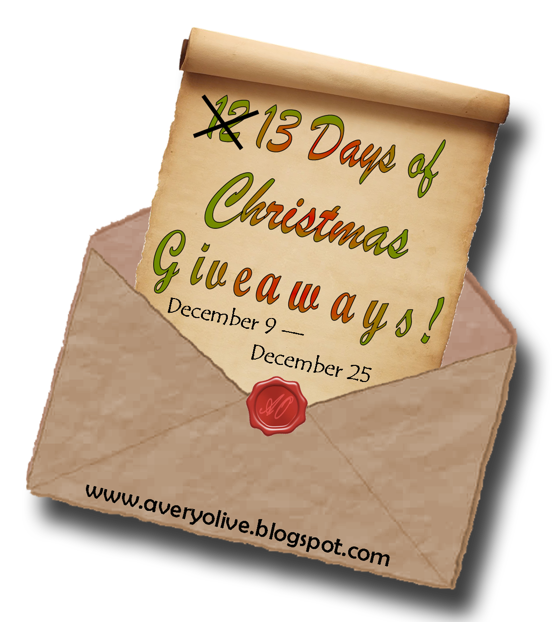 Avery Olive: The 13 Days of Christmas Giveaway and Showcase ...