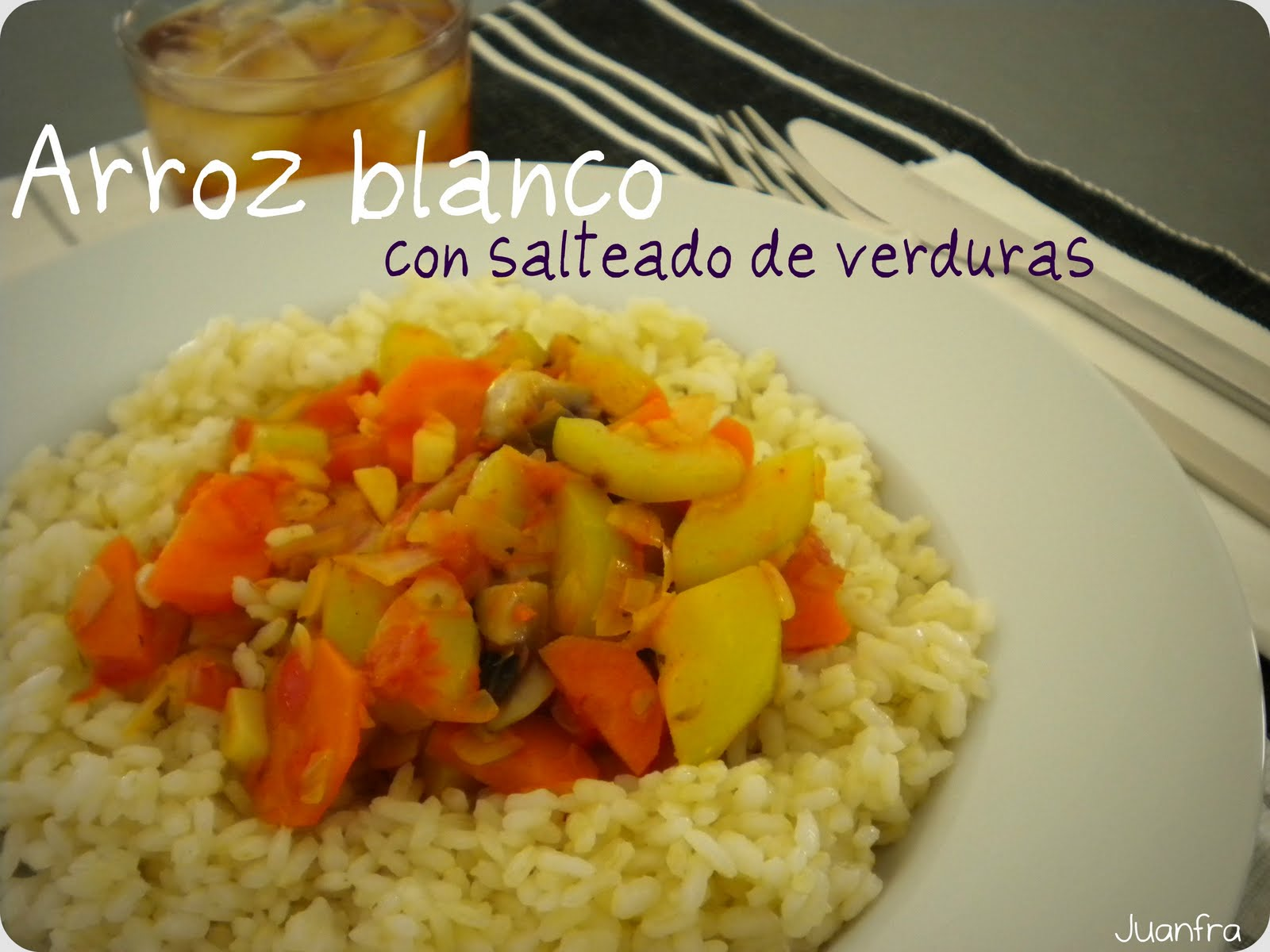Arroz blanco con salteado de verduras - Salteado de arroz ...