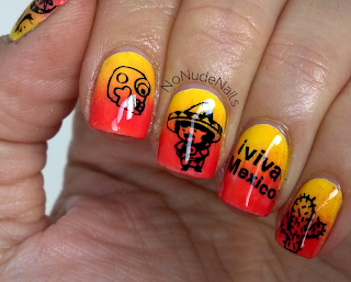 cinco de mayo nail art