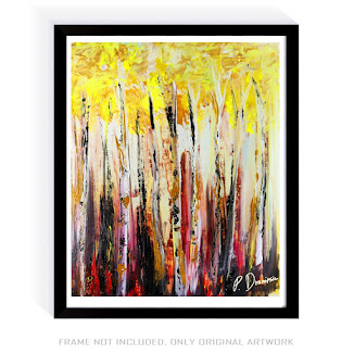 PAINTING OF THE DAY - BIRCH TREE FOREST