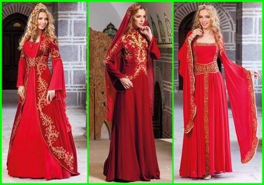 en güzel kırmızı bindallı modelleri