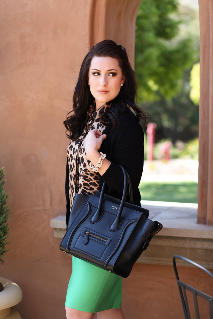 le-tote-leopard-blouse-celine-bag-mrs-robinson-mint-green-jcrew-skirt-king-and-kind-blog