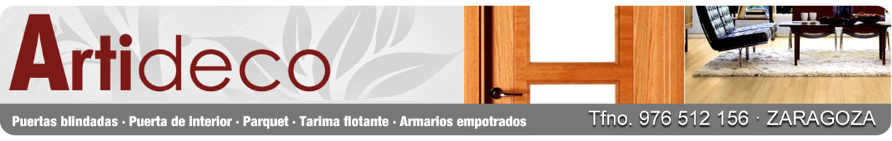 ARTIDECO. Puertas de madera, suelos laminados y armarios en Zaragoza