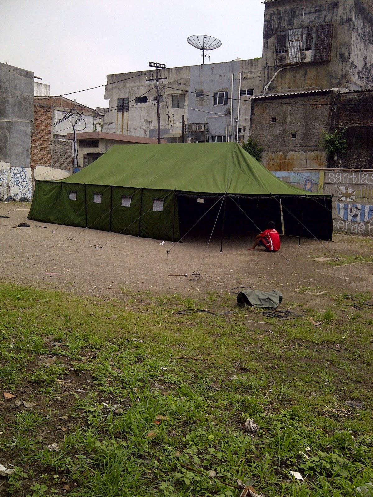 tenda peleton, jual tenda pengungsian, tenda tentara