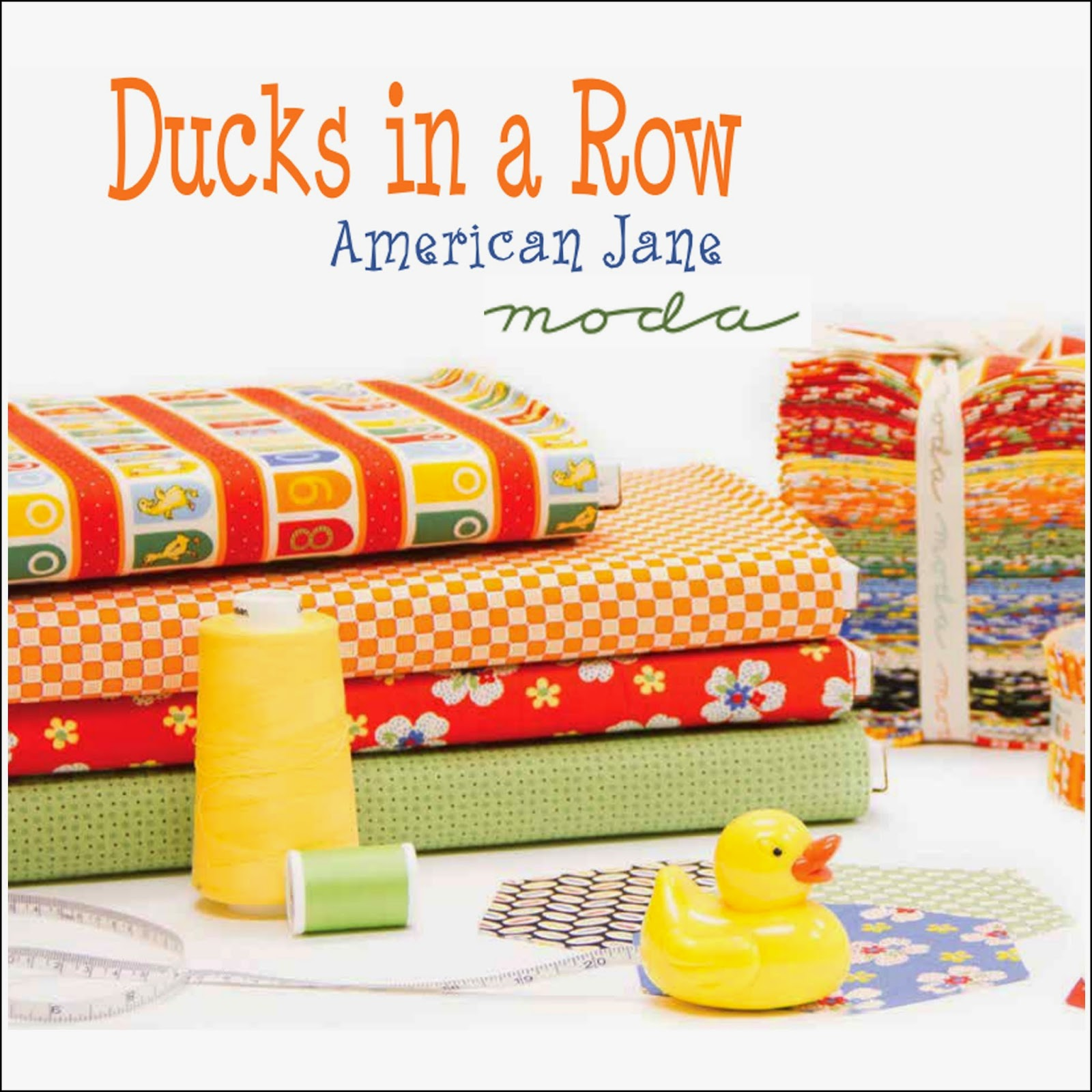 Moda DUCKS IN A ROW Quilt Fabric by American Jane