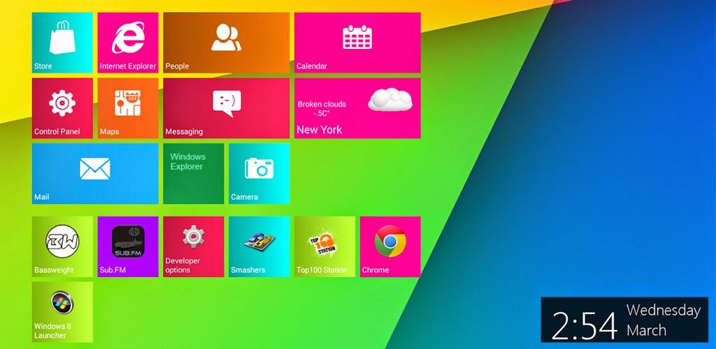 Windows 8 Metro Launcher Pro v1.6.1 APK DOWNLOAD