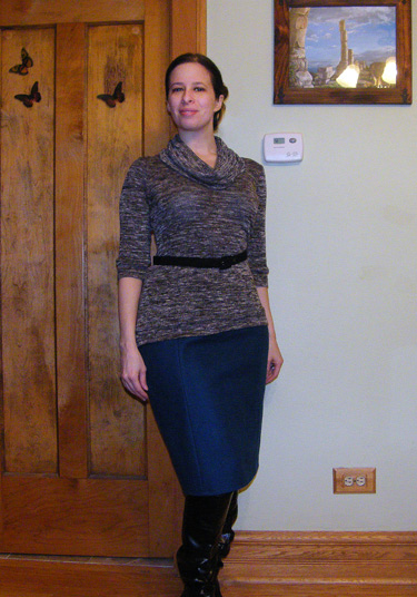 Burda Pencil Skirt and Renfrew Top