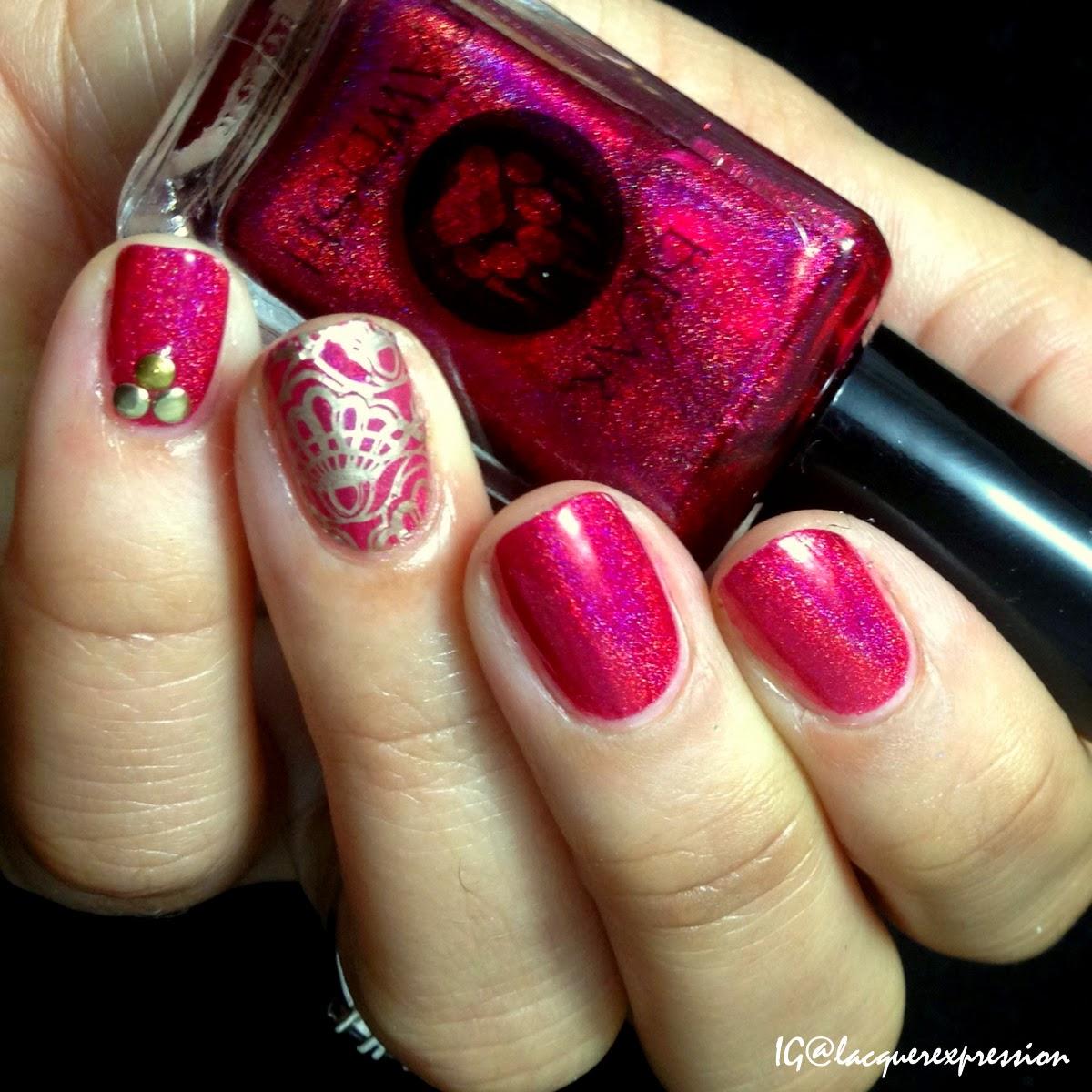 swatch of she's a fish killer nail polish by bear pawlish