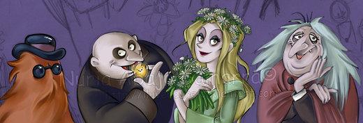 Family Addams Sketches por Iluvendure