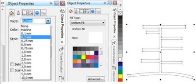merubah garis Outline dan warna