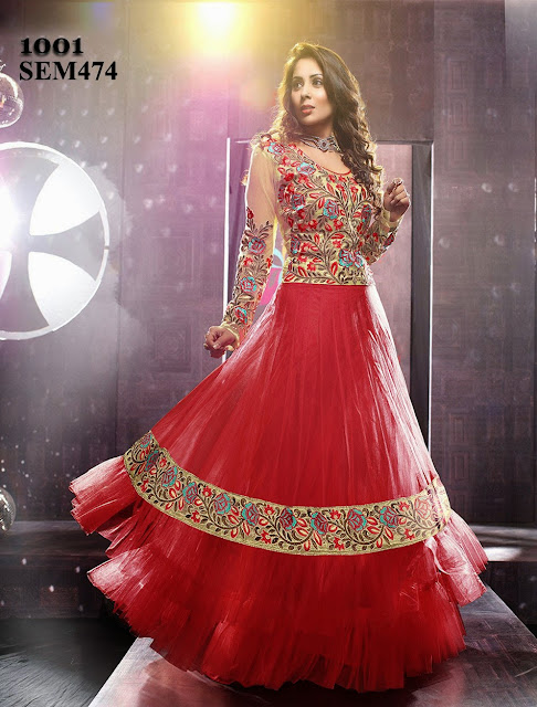 Sangeeta Ghosh Floor Length Long Anarkali Suit