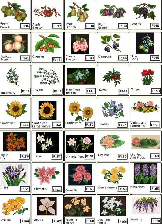 House Plaques - Flowers, Plants and Trees